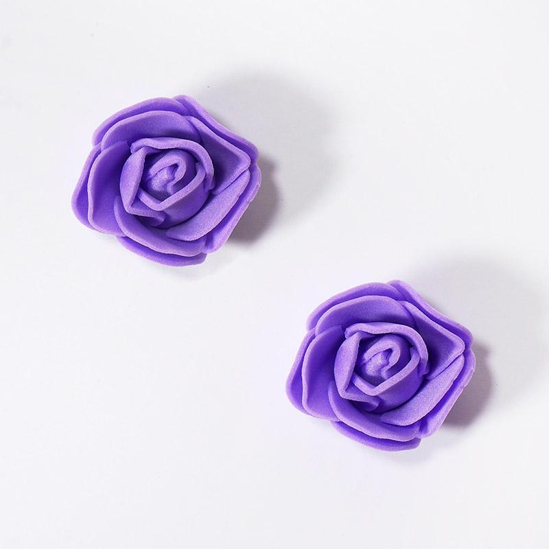Розочка из фоамирана маленькая 3-4см фиолетовый