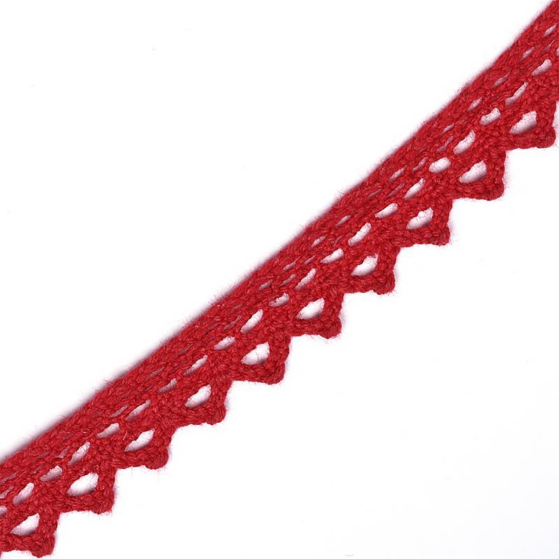 Тесьма вязаная TBY-5036.31 10мм 10м 31 красный