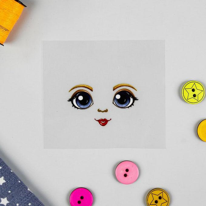 Термонаклейка для декорирования текстильных изделий Кукла Варвара 6,5х6,3см 4050096
