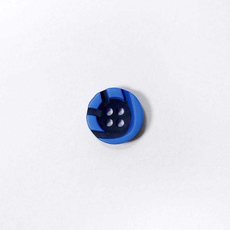 Пуговицы Рубашка 4-х пр. 13мм 432/4 синий/черный