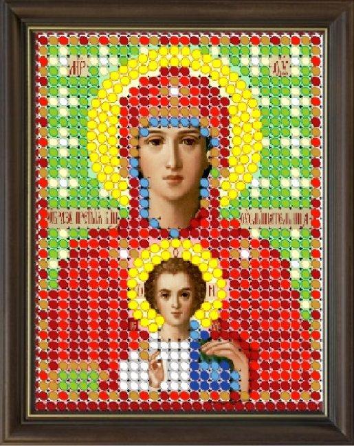 """Канва с рисунком СВ 307Л """"Услышательница"""" 6х7,5"""