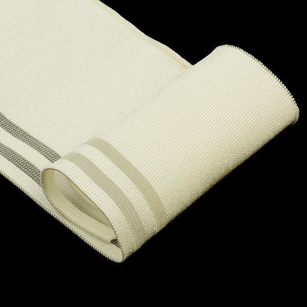 Подвяз трикотажный TBY.MP09 10см 1м молочный с прозрачными полосами