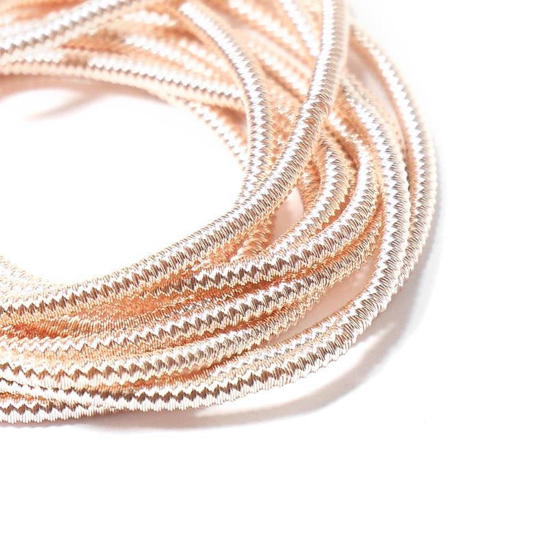 Канитель 1,5мм 1183EMB розовое золото витая жесткая 5гр