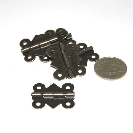 Декоративная петля для шкатулок FL-266 25х20мм 6шт бронза 21844