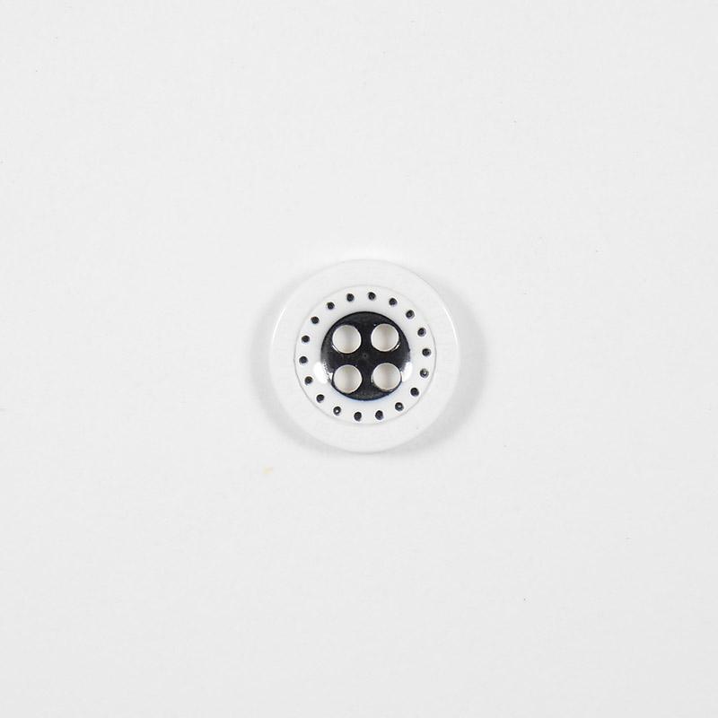 Пуговицы Рубашка 4-х пр.13мм 435/4 белый/черный
