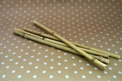 Палочка бамбуковая полая 6-10мм 30см 4шт КЛ.25336