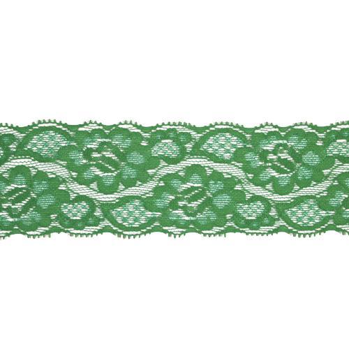 Кружево эластичное EL-35 58мм 20м 061 зеленый