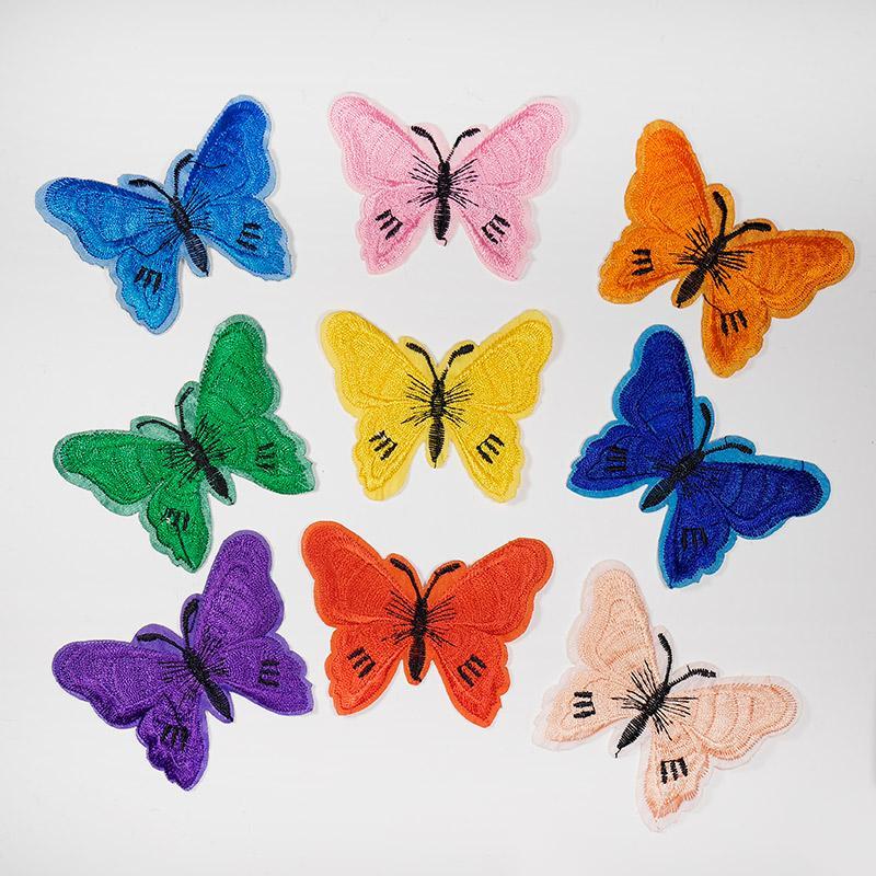 Термоаппликация Бабочки KD005 6х7,5см ассорти по цветам
