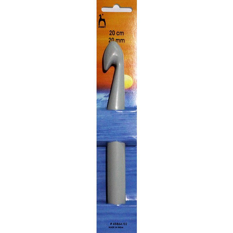 Крючок вязальный 20см №20 пластик Pony 45864