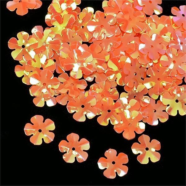 Пайетки TBY-FLK465 14мм 50гр 327 оранжевый