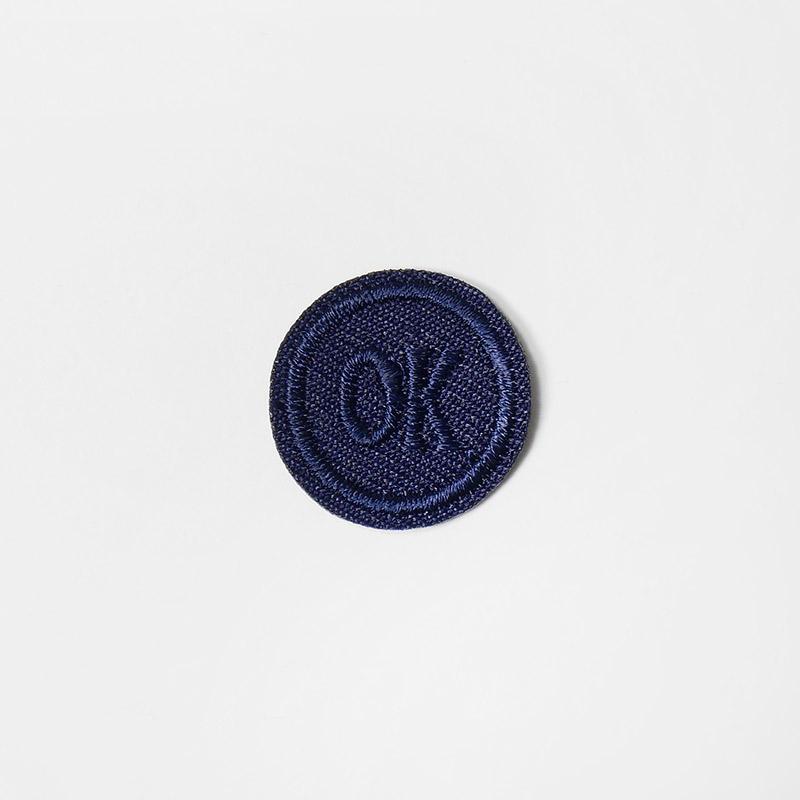 Термоаппликация ОК d 2,0см, круг арт 042, т.синий