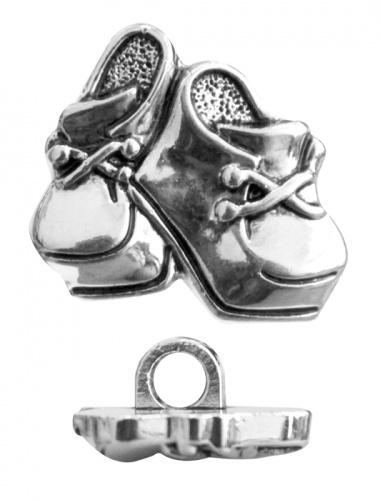 Пуговицы Башмачки 57898 15мм серебро 7703974