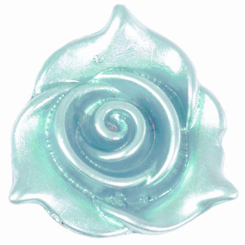 Полубусины пришивные Роза 22мм голубой 5шт