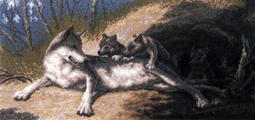 """Набор для вышивания А640 """"Волки"""""""