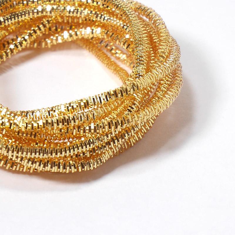 Канитель 2мм 4258EMBNK яркое золото трунцал 5гр