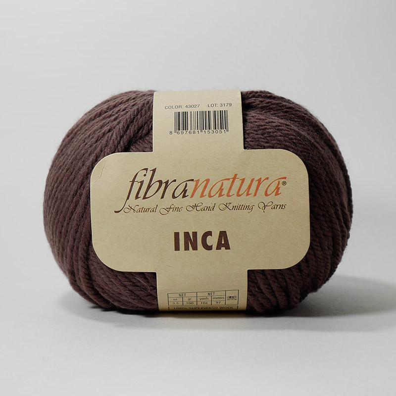 Пряжа Инка 43027 - коричневый