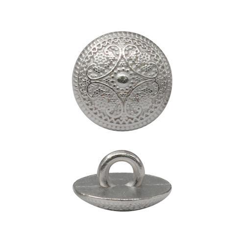 Пуговицы на ножке 11мм узор серебро 2116621