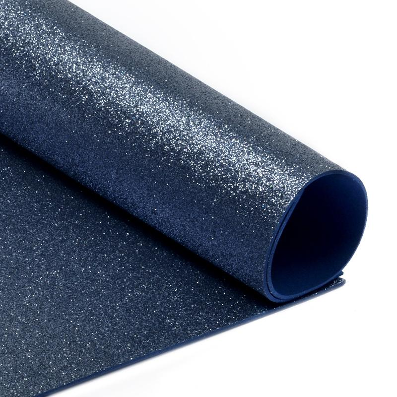 Фоамиран глиттерный 2мм 20*30см 10шт MG.GLIT.H021 т.синий