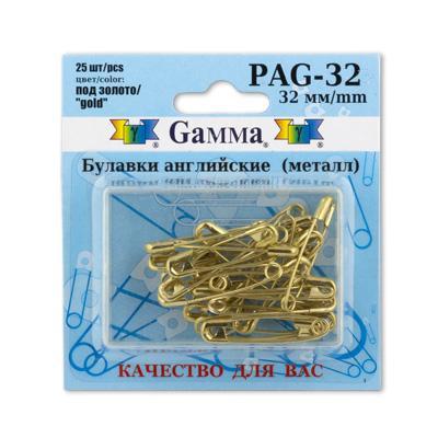 Булавки английские PAG-32 25шт золото