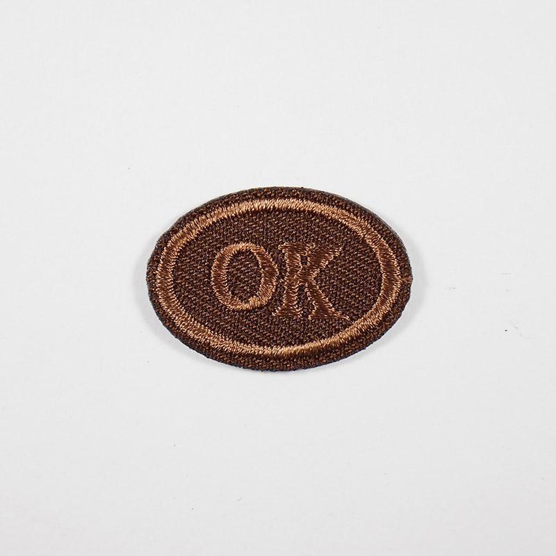 Термоаппликация ОК 3х2см, овал арт 043, коричневый