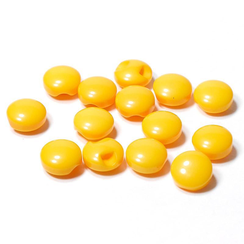 Пуговицы мини 10мм круглые пластик на ножке 14шт желтый 27354