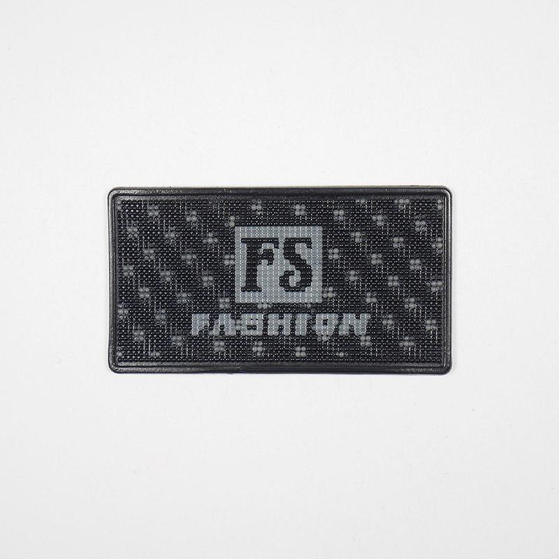 Лейба голография FS Fashion 52х29мм черно-серая 27434