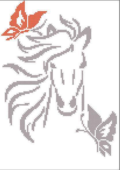 "Холст с рисунком ФБР-053 ""Силуэт лошадь"" 18х35 см"