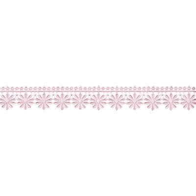 Гипюр 3033 35мм 8.8м розовый