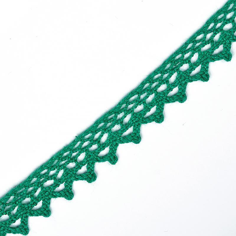 Тесьма вязаная TBY-5036.33 10мм 10м 33 зеленый
