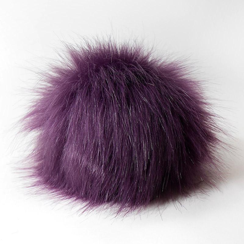 Помпон 13-15см искусственный под енота фиолетовый