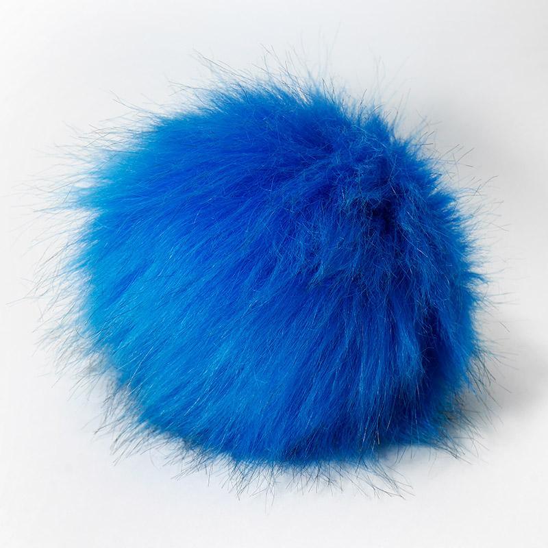 Помпон 13-15см яр.голубой №9 искус под енота