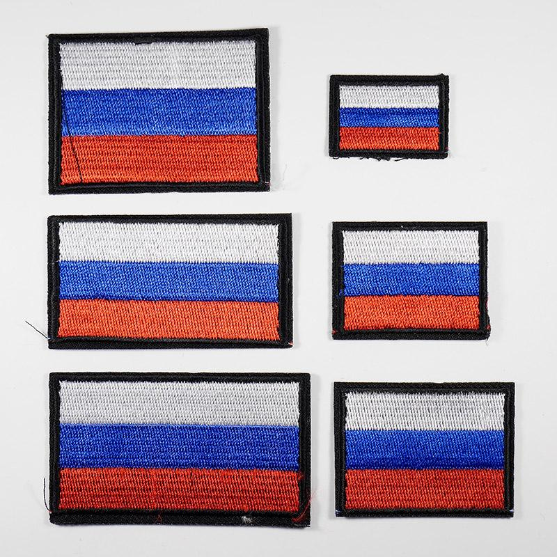 Термоаппликация Флаг России 6шт 6 размеров