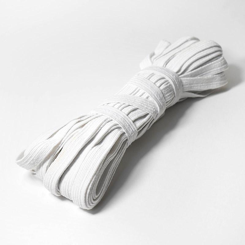 Тесьма эластичная 10мм 10м белая