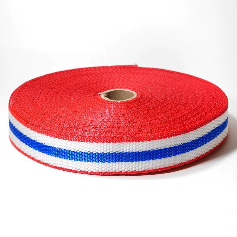 Стропа-30-5п С3824 30мм 25м красный/белый/синий 9492