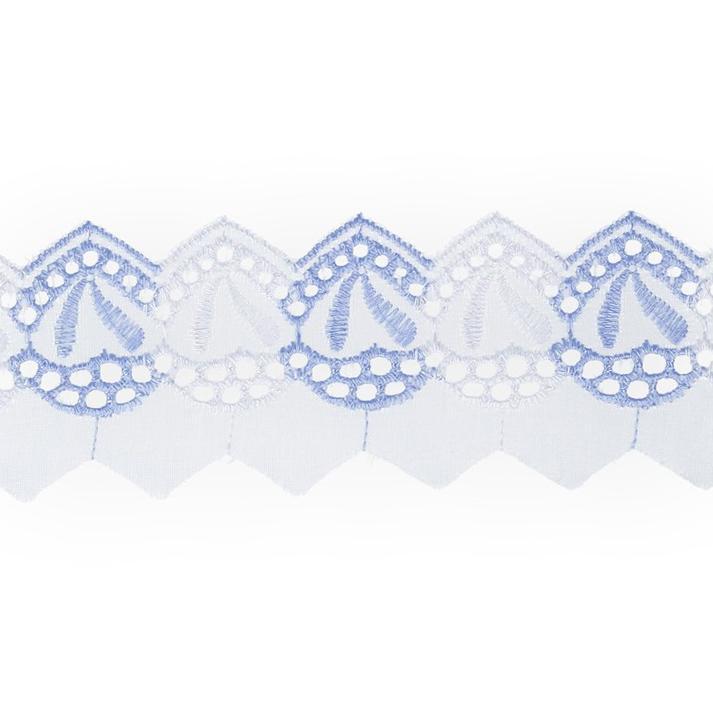 Шитье 308 60мм 8,5м бело-голубой