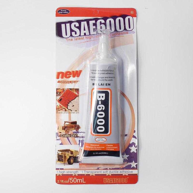 Клей для страз и полубусин 50мл В-6000 в блистере