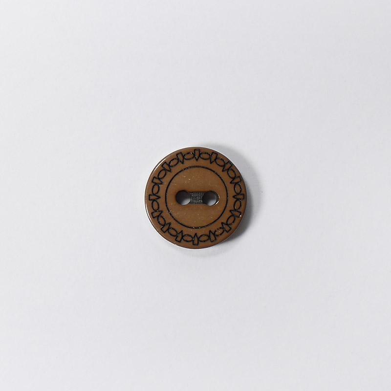 Пуговицы Рубашка L049 2 прокола 13мм коричневый Одеон 1шт