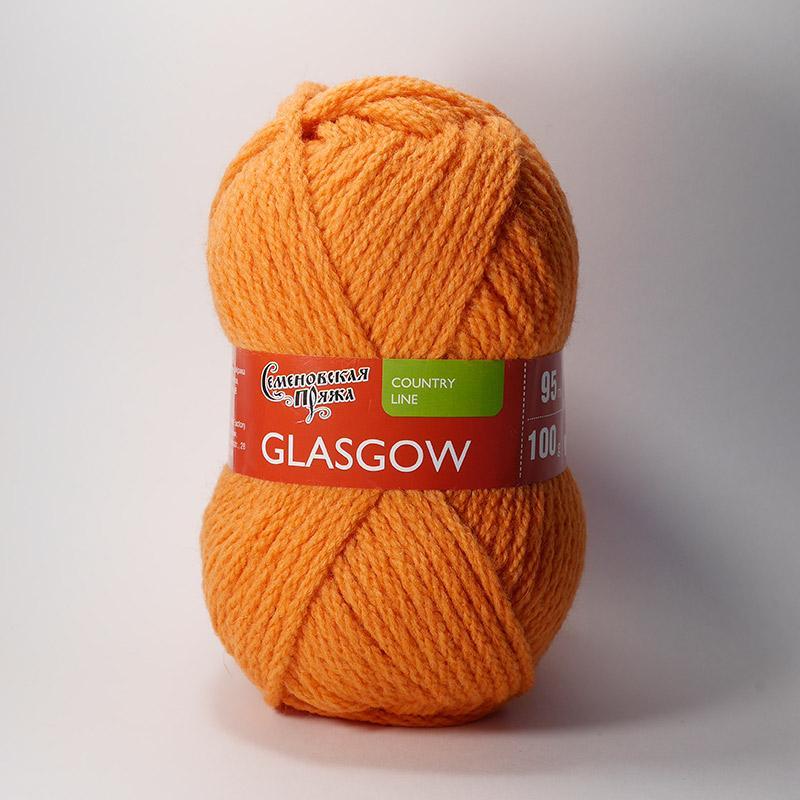 Пряжа Глазго 670 - морковный