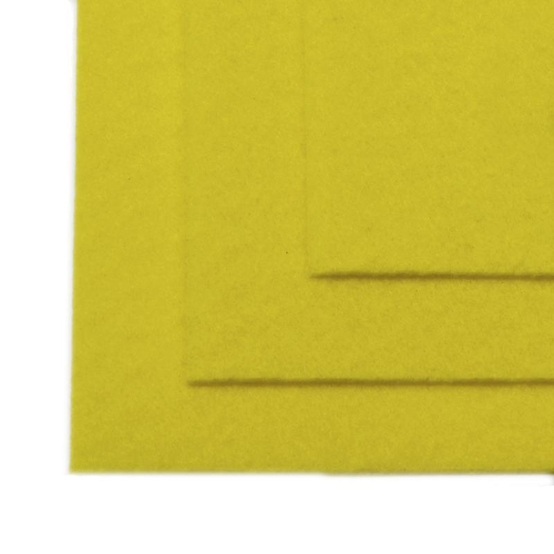 Фетр листовой жест. FLT-H1 1мм 20*30см 10шт 633 лимон IDEAL