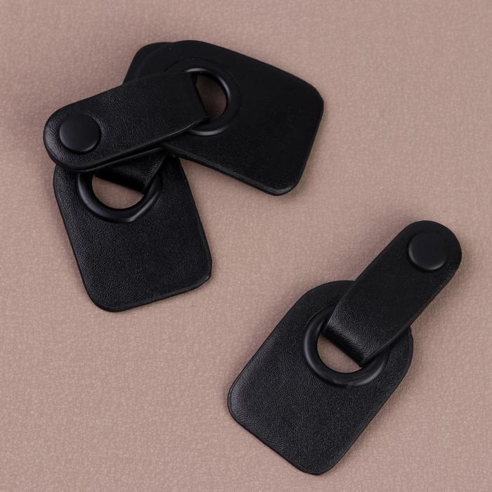 Застежка-клевант с кнопкой 9х4см 3шт черный 5131366