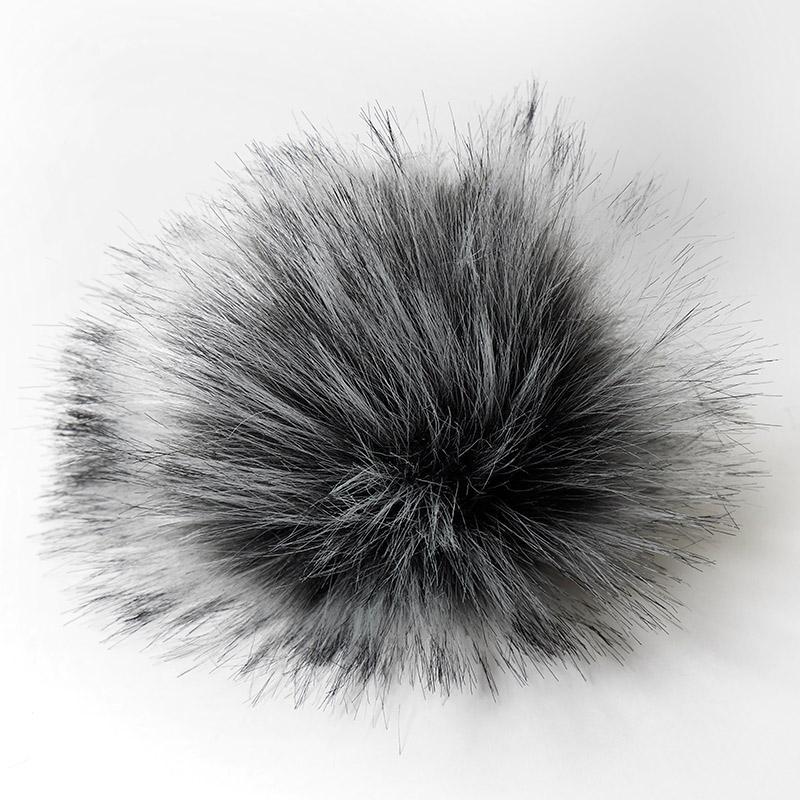 Помпон 13-15см искусственный под енота чернобурка