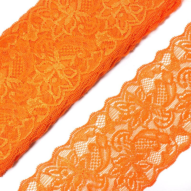 Кружево-стрейч 6591 85мм 9м оранжевый