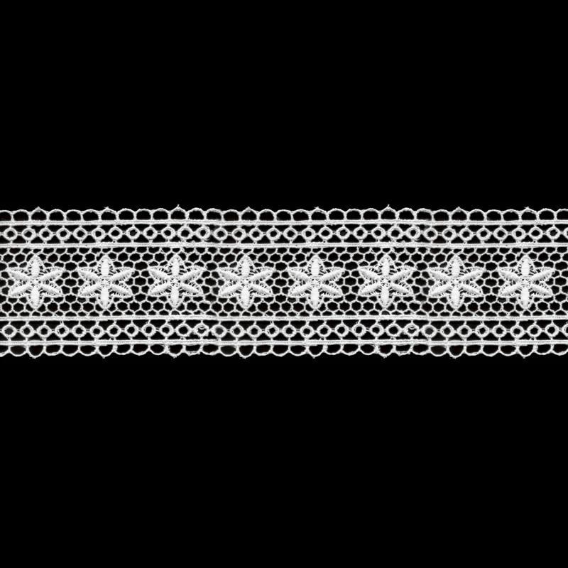 Гипюр 3178 65мм 8.8м белый