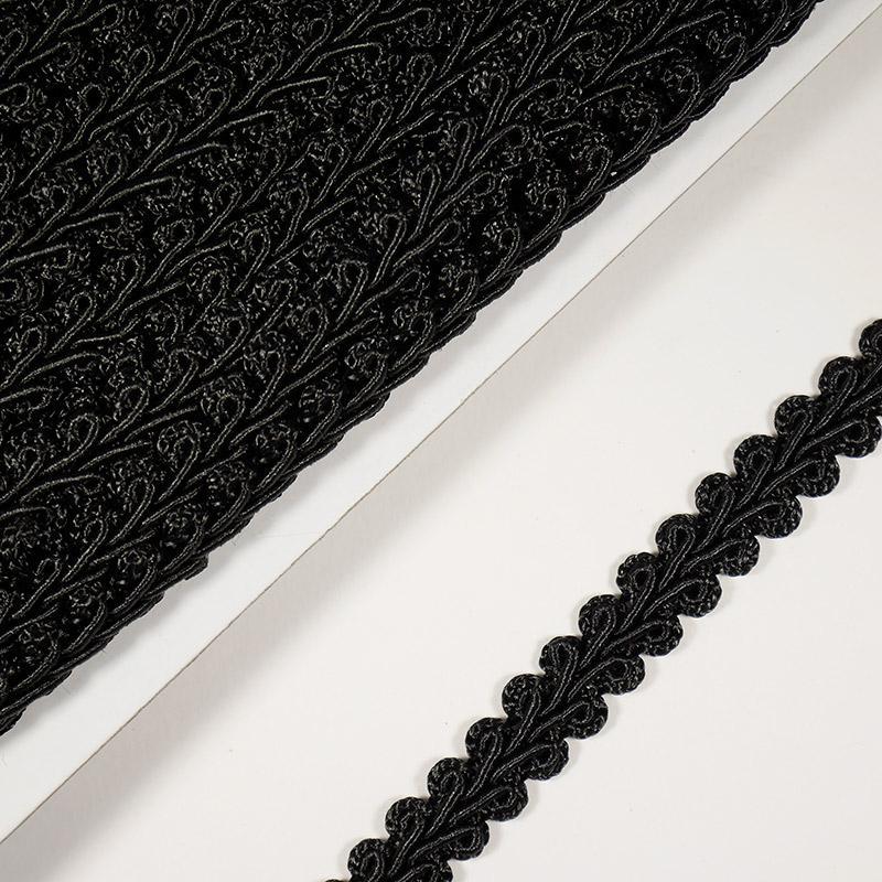 Тесьма Шанель 10мм 18,2м 176 черный