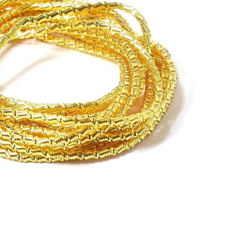 Канитель 2мм 4966EMBFW солнечное золото французкая проволока 5гр