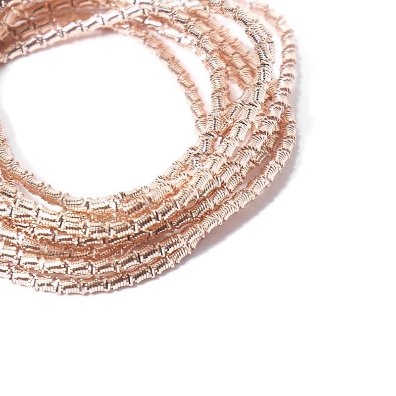 Канитель 2мм 1179EMB  розовое золото французкая проволока 5гр