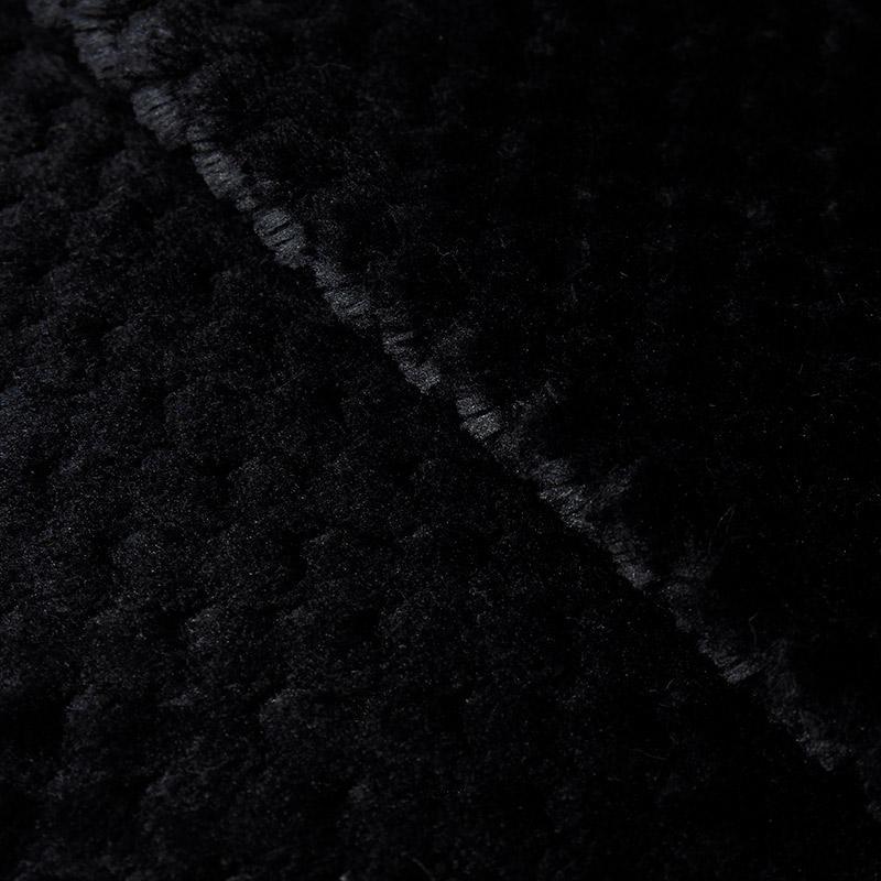 Мех фактурный Соты 50х50см черный 25748