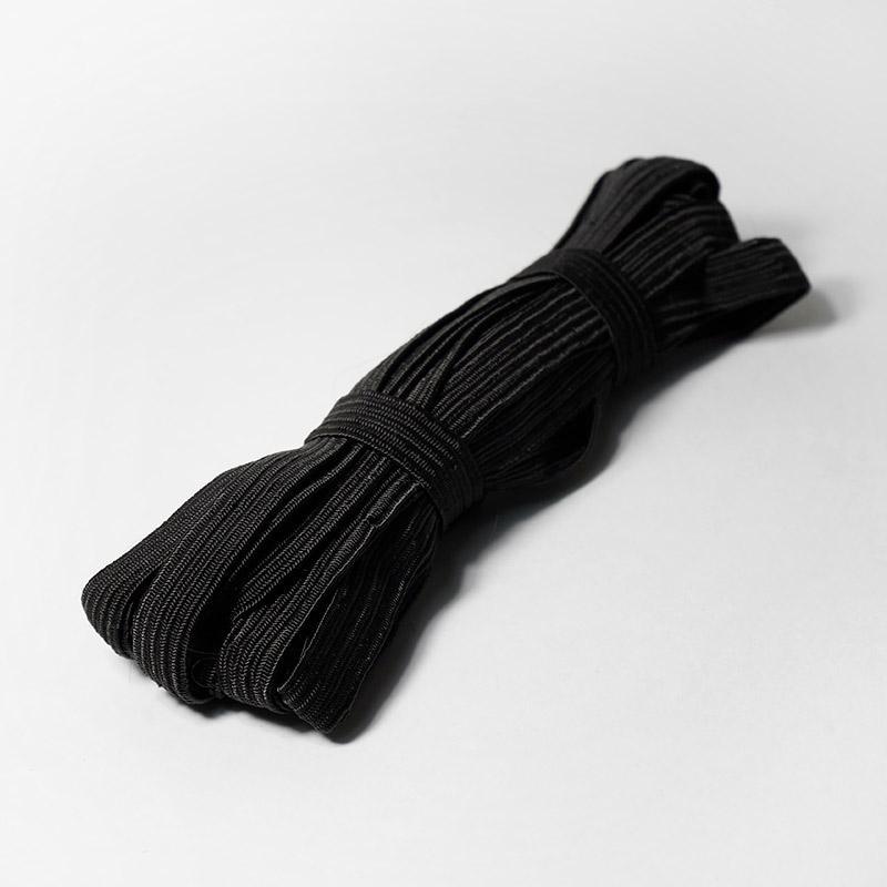 Тесьма эластичная 10мм 5м черная