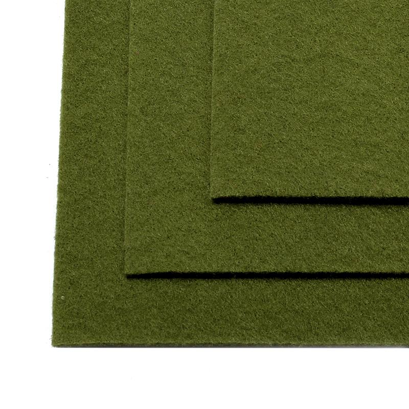 Фетр листовой жест. FLT-H1 1мм 20*30см 10шт 663 болотный IDEAL