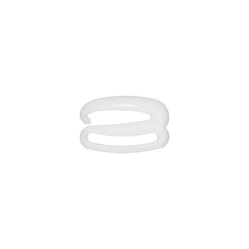 Крючки для бюстгальтеров HP-18 18мм пластик 100шт белый